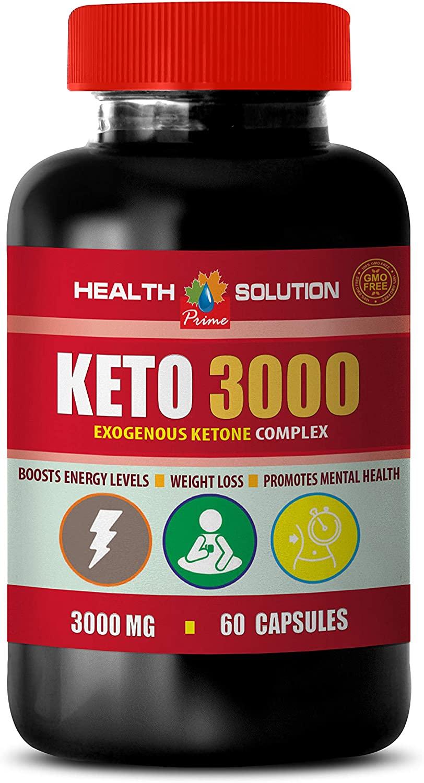Energy Formula Herbal Supplement - Keto 3000 MG - EXOGENOUS Ketone Complex - Keto Womens multivitamin - 1 Bottle 60 Capsules