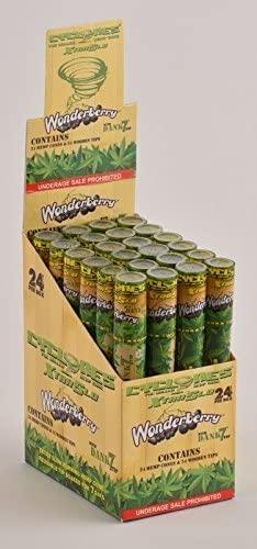 6 Total Natural Cyclone Dank 7 Hemp Cones w/Wood Tip Wonderberry Flavored (6 Packs) + XL Beamer Doob Tube Non Tobacco Non Nicotine + Limited Edition Beamer Smoke Sticker Made of Pure Hemp