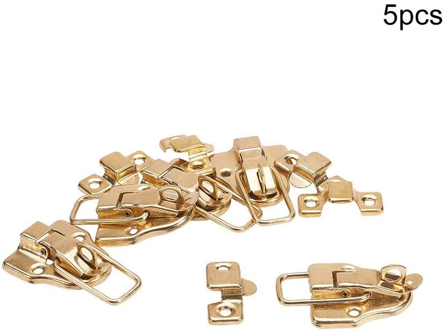 MroMax Vintage Style Wood Jewelry Box Latch Case Hasp Lock Bronze Tone
