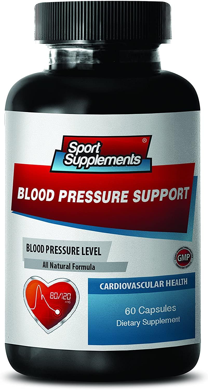 Blood Pressure Longevity - Blood Pressure Support 690 MG - Cardiovascular Health - Garlic Vitamins - 1 Bottle (60 Capsules)