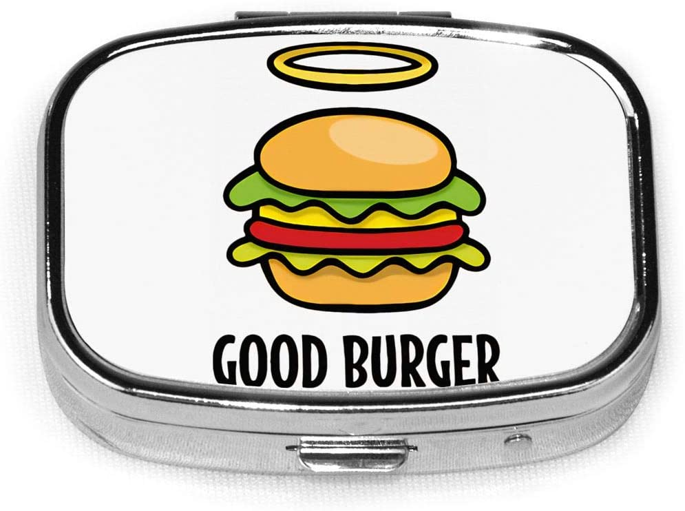 Wehoiweh Good Burger 2.2x1.6x0.7 Inch Mini Medicine Box, Full Size Printing is Easy to Carry