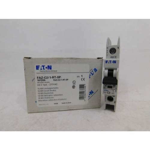 Eaton FAZ-C2/1-RT, 2 Amp Single-Pole C-Curve Ring-Tongue, UL 489 Miniature Circuit Breaker