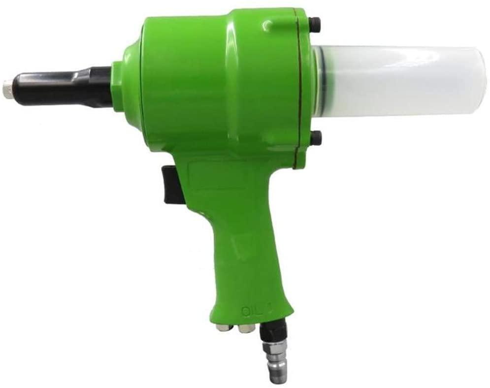 Pneumatic Air Hydraulic Rivet Gun Riveter Industrial Nail Riveting Tool Suitable For Aluminium/Iron/Stainless Steel Nails GREEN