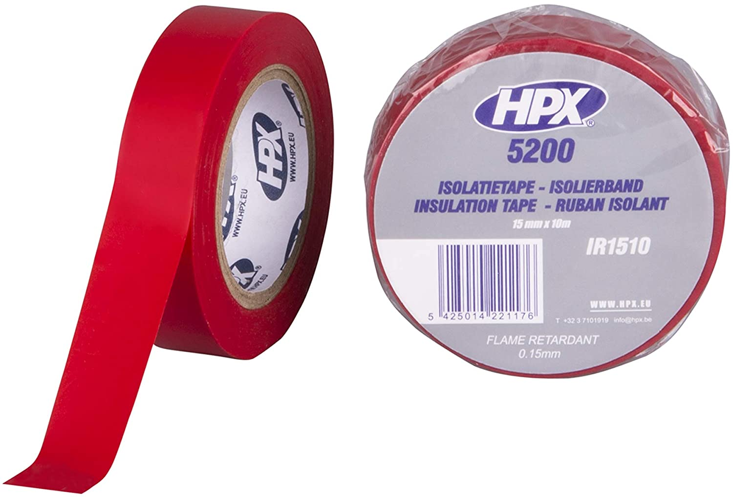 PVC Insulating Tape 15 mm x 10 m Red
