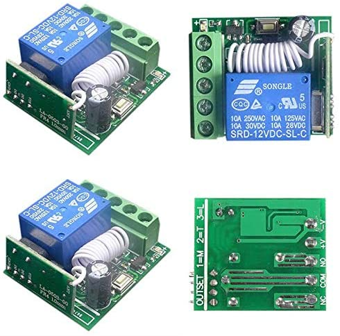 Calvas 10A 1 Channel Receiver Wireless Relay DC12V RF Remote Control Switch DIY Module For DIY Integrated Circuits Part 433MHZ