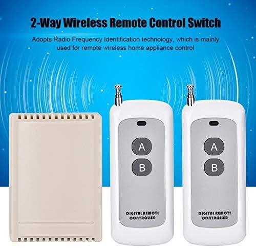 Calvas 433.92MHZ Two Way Switch 2-way Wireless Relay Switch Remote Control Switch Modification Controller