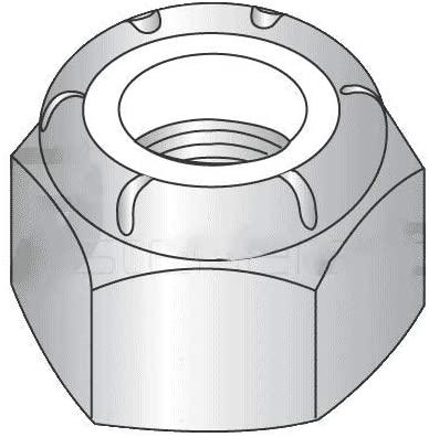 M5-0.80 Nylon Insert Locknut DIN 985 / A4-80 Stainless Steel (Quantity: 100)