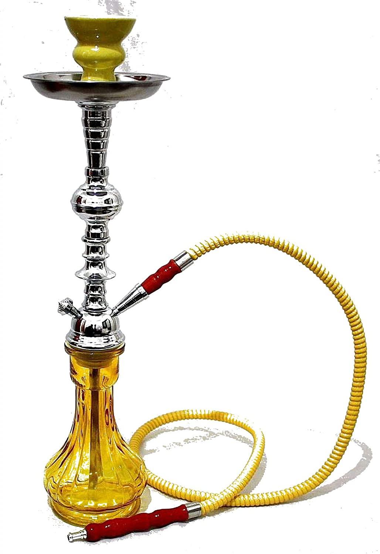 1- Hose Yellow Gini Shisha Yellow Luxury Pipe hooka - no Tobacco no Nicotine Set Best Buy Nargila - no Tobacco no Nicotine