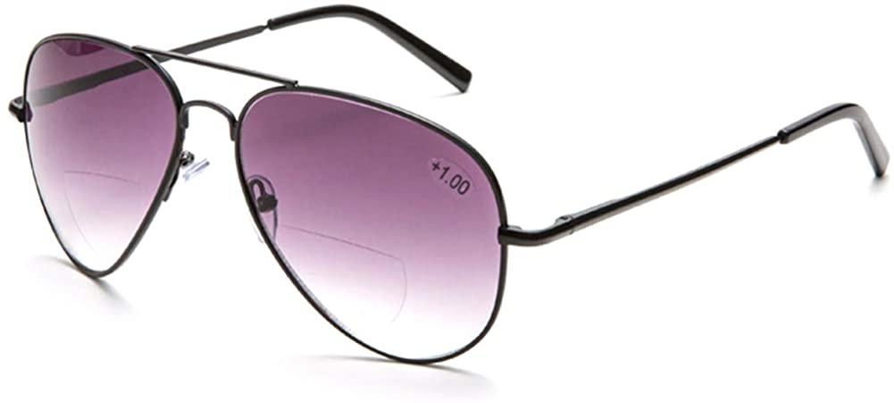 Bifocal Sunglasses With Readers Gradient Lens UV400 Reading Glasses