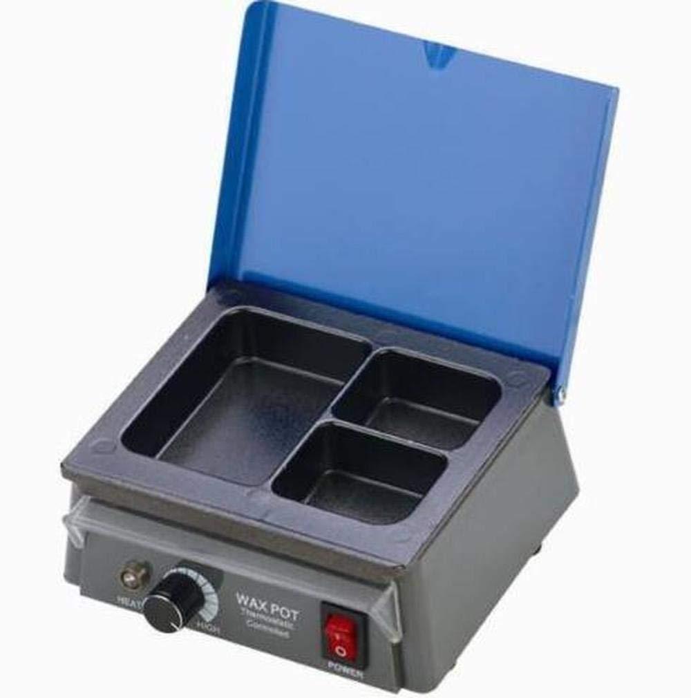 Supershu Dental Lab Equipment Analog Wax Warmer Pot 3 Pot Wax Pot for Dental Waxing Kit