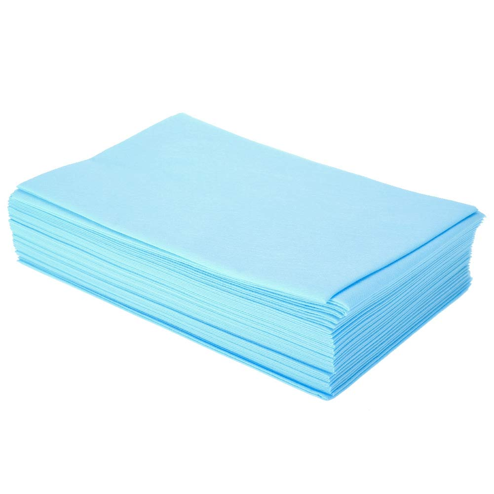 10Pcs Disposable Bed Sheets Beauty Salon Massage Thickened Non-Woven Bedsheets(Blue)