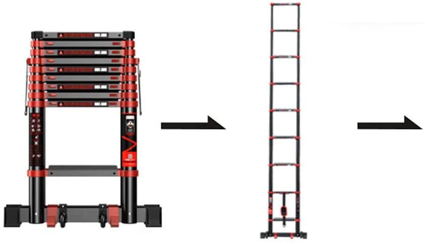 Telescoping Ladders ZR EN131, Aluminum Telescopic Extension Tall Multi Purpose Loft Ladder, 330 Pound/150 Kg Black (Size : Straight Ladder 2.7m)
