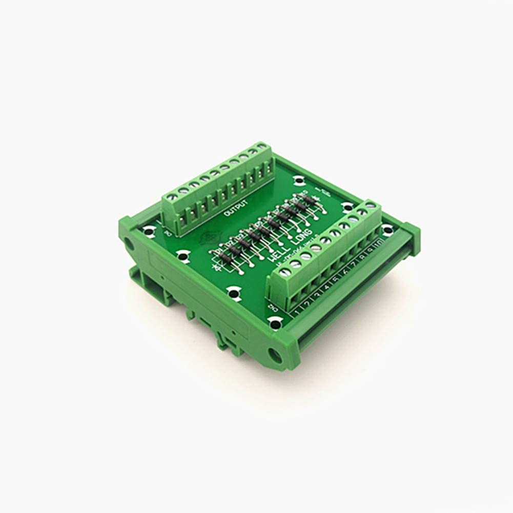 DIN rail mountable Diode Protection Terminal Block IN4007 1A/1200V Diode Terminal Block.