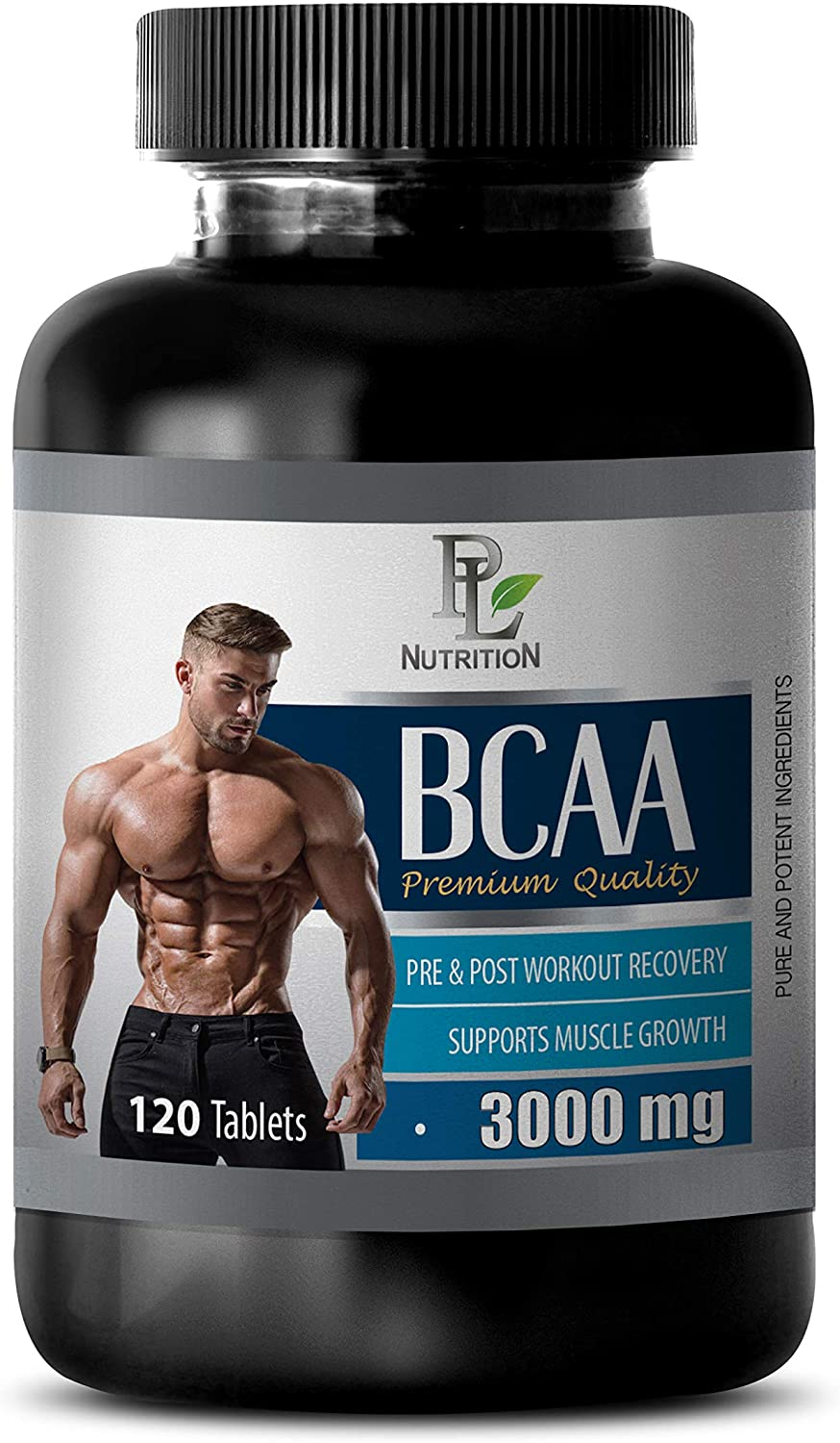 Muscle Growth Products - BCAA 3000 MG PRE & Post Workout Recovery - Premium Quality - high Quality bcaa - 1 Bottle 120 Tablets