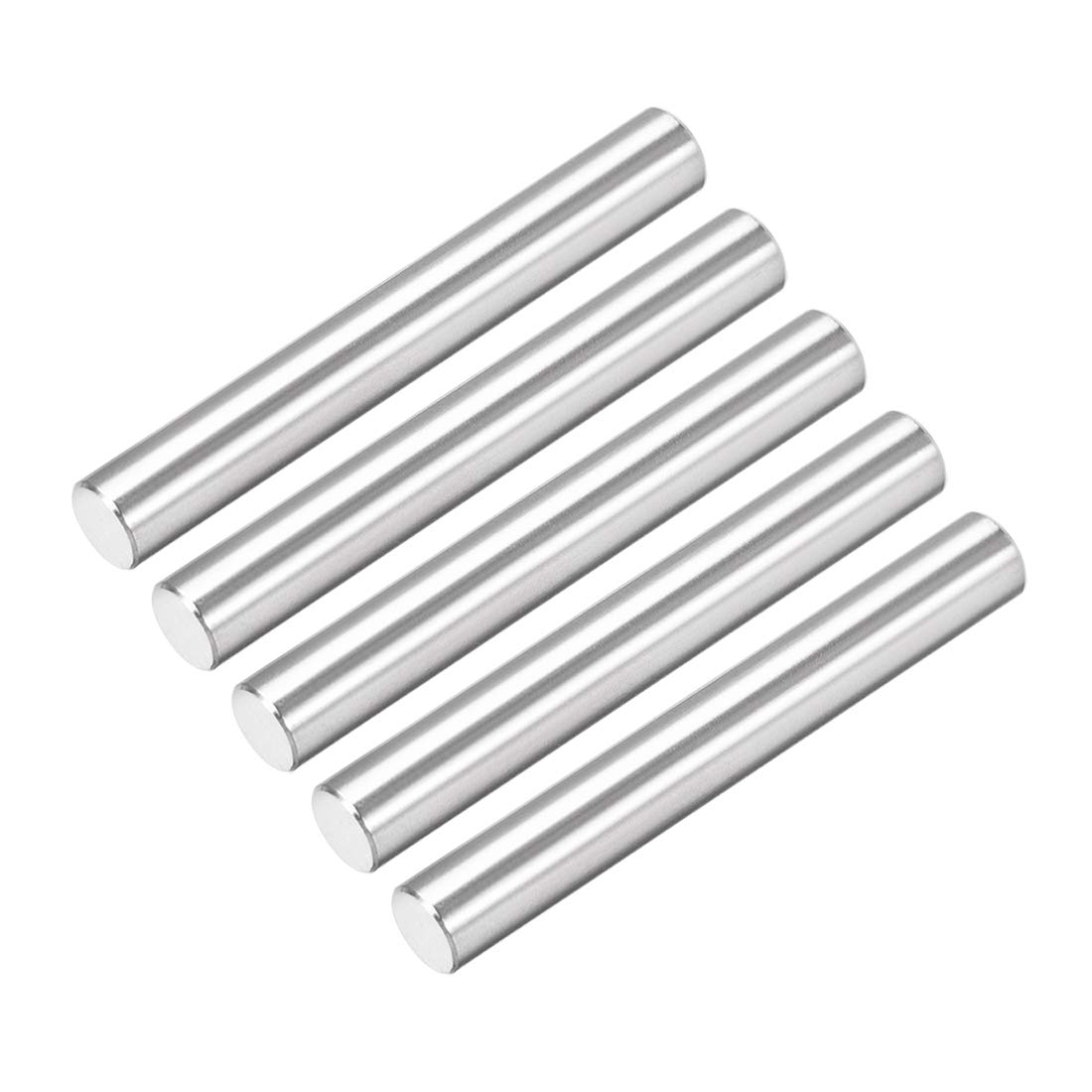 uxcell 5Pcs 6mm X 45mm Dowel Pin 304 Stainless Steel Cylindrical Shelf Support Pin Fasten Elements Silver Tone