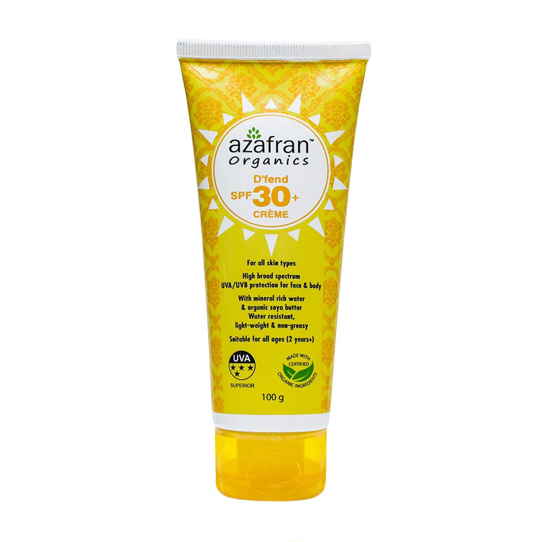 Azafran Organics D'fend SPF 30+Creme, 100g