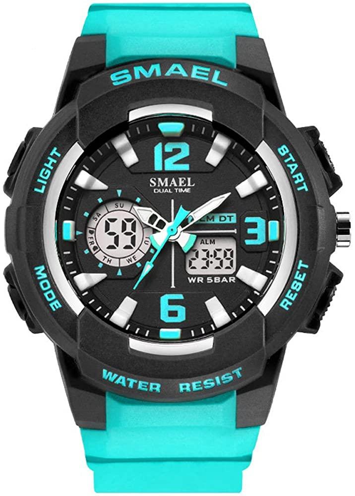 SMAEL Women's Sport Wrist Watch Quartz Dual Movement with Analog-Digital Display Watches for Women