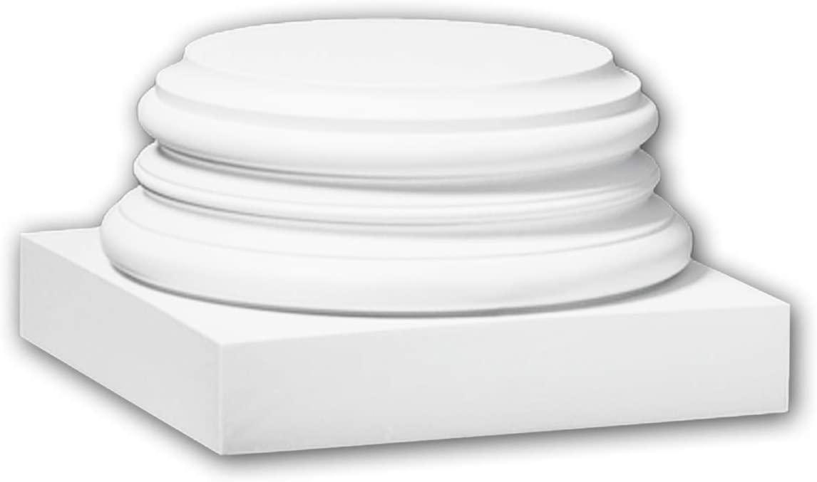Full Column Base 113900 Profhome Column Decorative Element Timeless Classic Design White