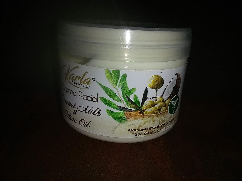 Karla Cosmetics Facial cream Coconut milk & olive oil wholesale set of 10