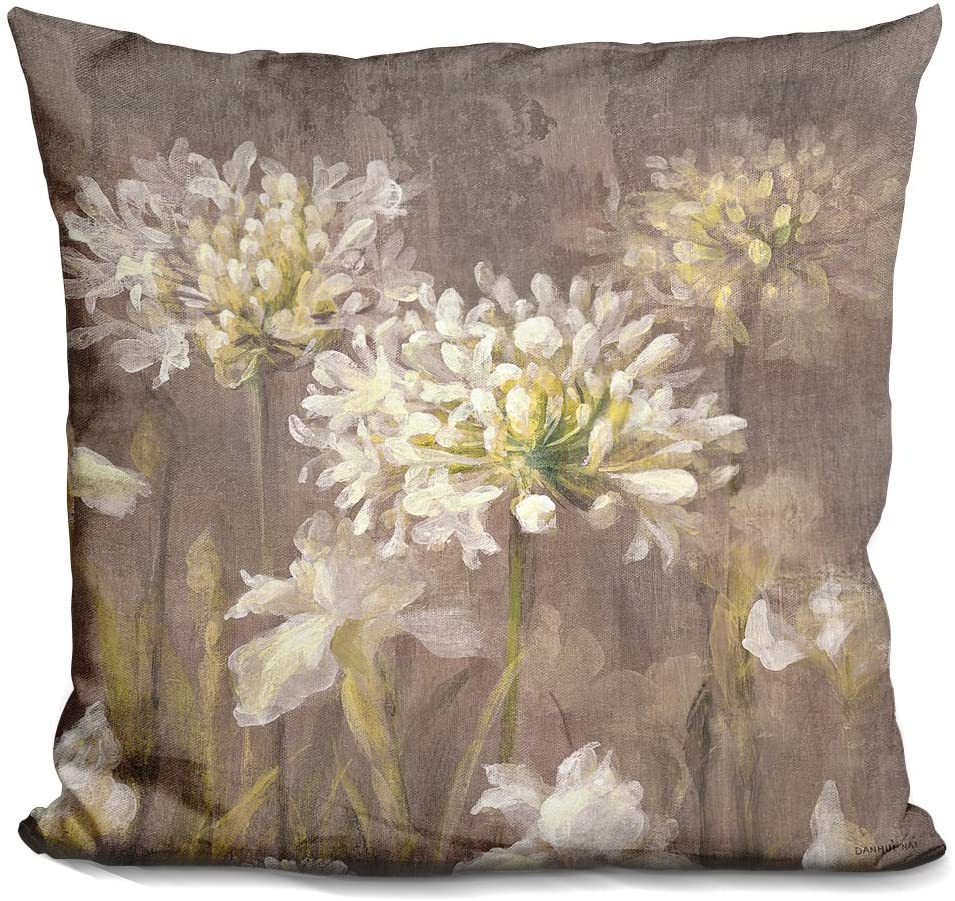 LiLiPi Spring Blossoms Neutral Iv Decorative Accent Throw Pillow