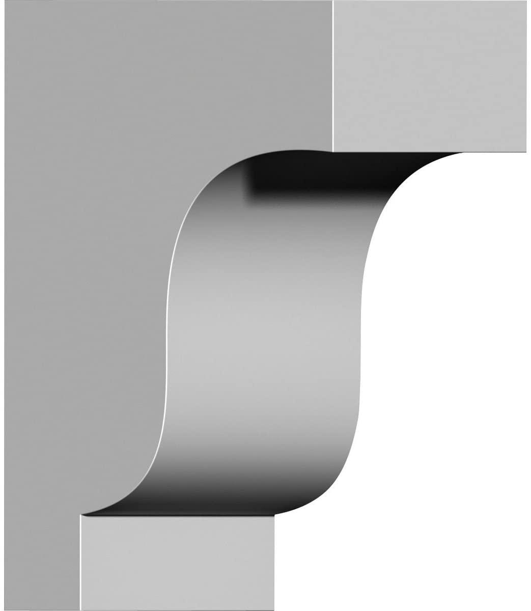 Ekena Millwork COR04X07X10TR-CASE-2 4 1/2 inch W x 7 1/2 inch D x 10 inch H Traditional Corbel (2-Pack),