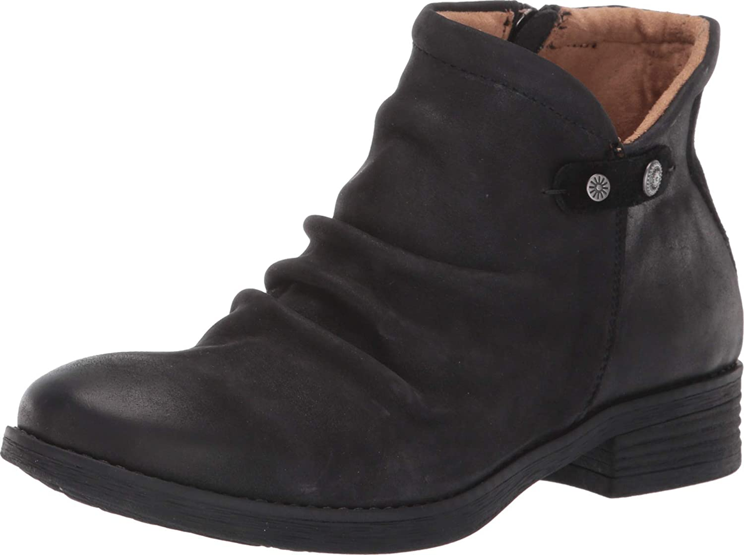 Comfortiva Womens Tarrant Suede Ruched Booties