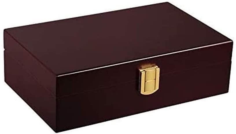 WJCQG Wood Stash Box w/Storage - Chalet red Cherry Cigar Humidor