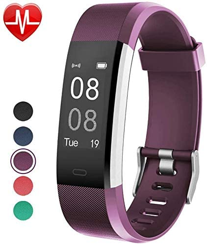 DOOK Kids Fitness Tracker Watch with Heart Rate Monitor, Swimproof Kids Activity Tracker Pedometer Watch, Slim Sport Fitness Watch with Sleep Monitor, Calorie Counter for Kids Women Men
