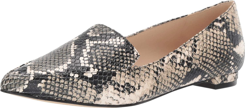 NINE WEST womens Fashion Loafer Flat, Grey Multi, 6.5 M US