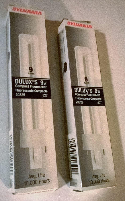 Dulux 9 Watt T4 Single Compact Fluorescent Bulb with 2700K Color Temperature