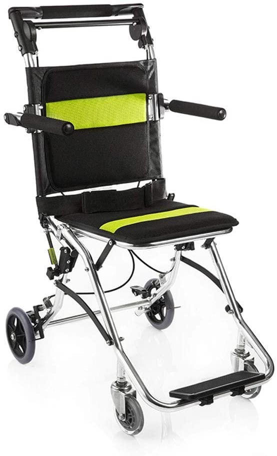C & S CS Wheelchair,Aluminum Alloy Lightweight Folding Hand Push Wheelchair Scooter for Elderly Disabled Swing Away Footrests erewrfsdfvxc