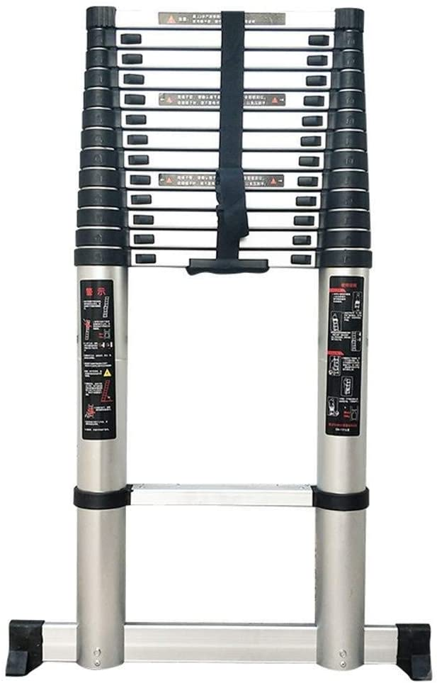 Ladders Atelescoping Ladder with Stabilizer Bar, Telescopic Extension Multi Purpose Ladders Portable for Roof Loft Outdoor Office (Size : 5.4M/17.72Ft)