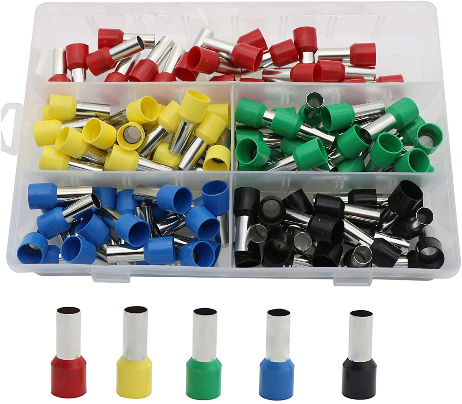 Wire Crimp Connectors Cord End Terminal Insulated Ferrule 4 AWG with 100 Pcs