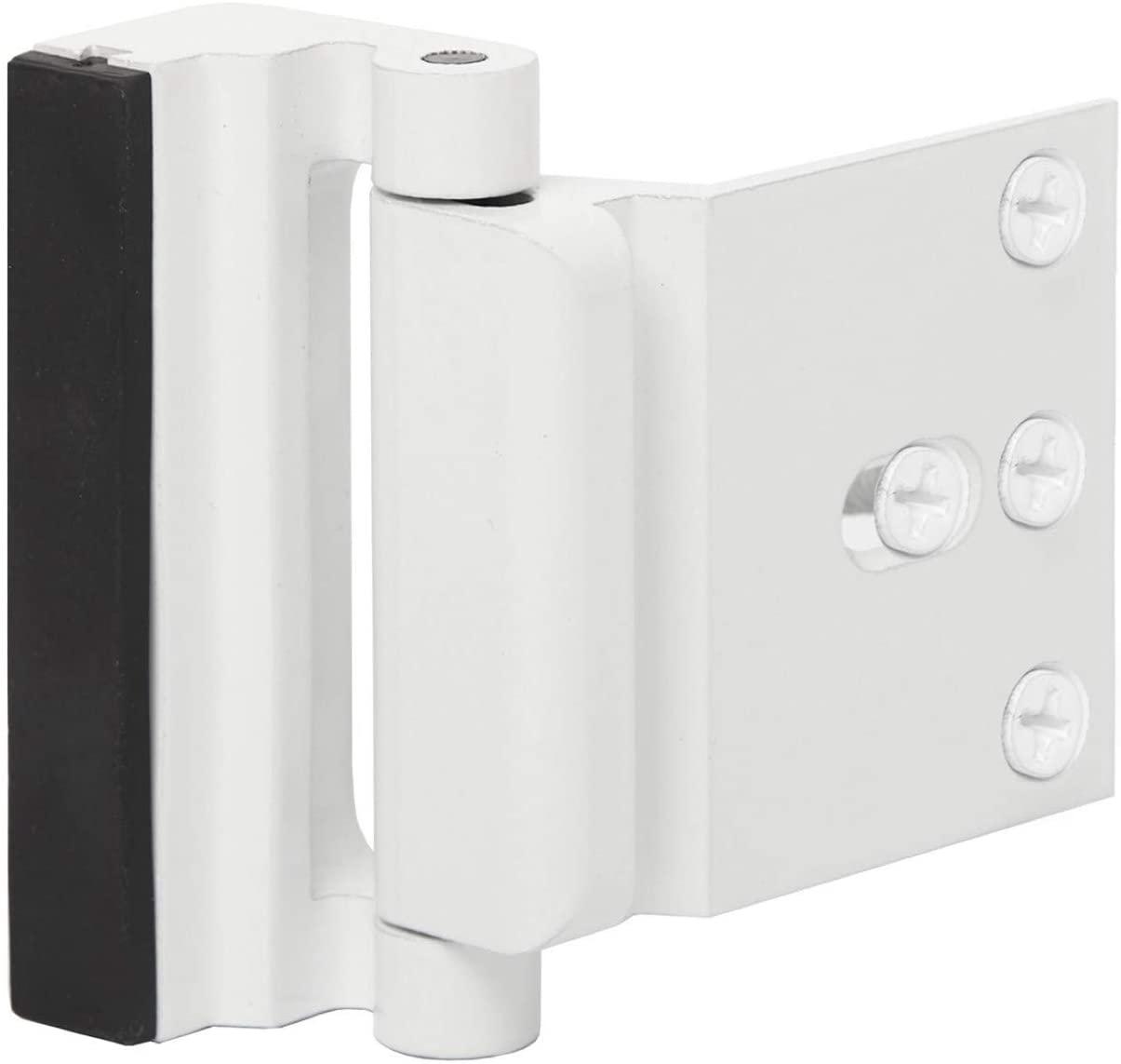 Door Reinforcement Lock Child Safety Door Security Lock with 4 Screws for Inward Swinging Door-Add Extra,High Security to Your Home Prevent Unauthorized Entry-3