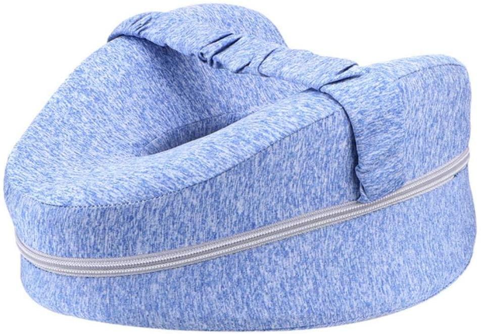 SHIJING Leg Positioner Pillows for Orthopedic Sciatica Back Leg Hip for Side Sleepers Heart Shape Memory Foam Knee Pillow Leg Pillows,Blue