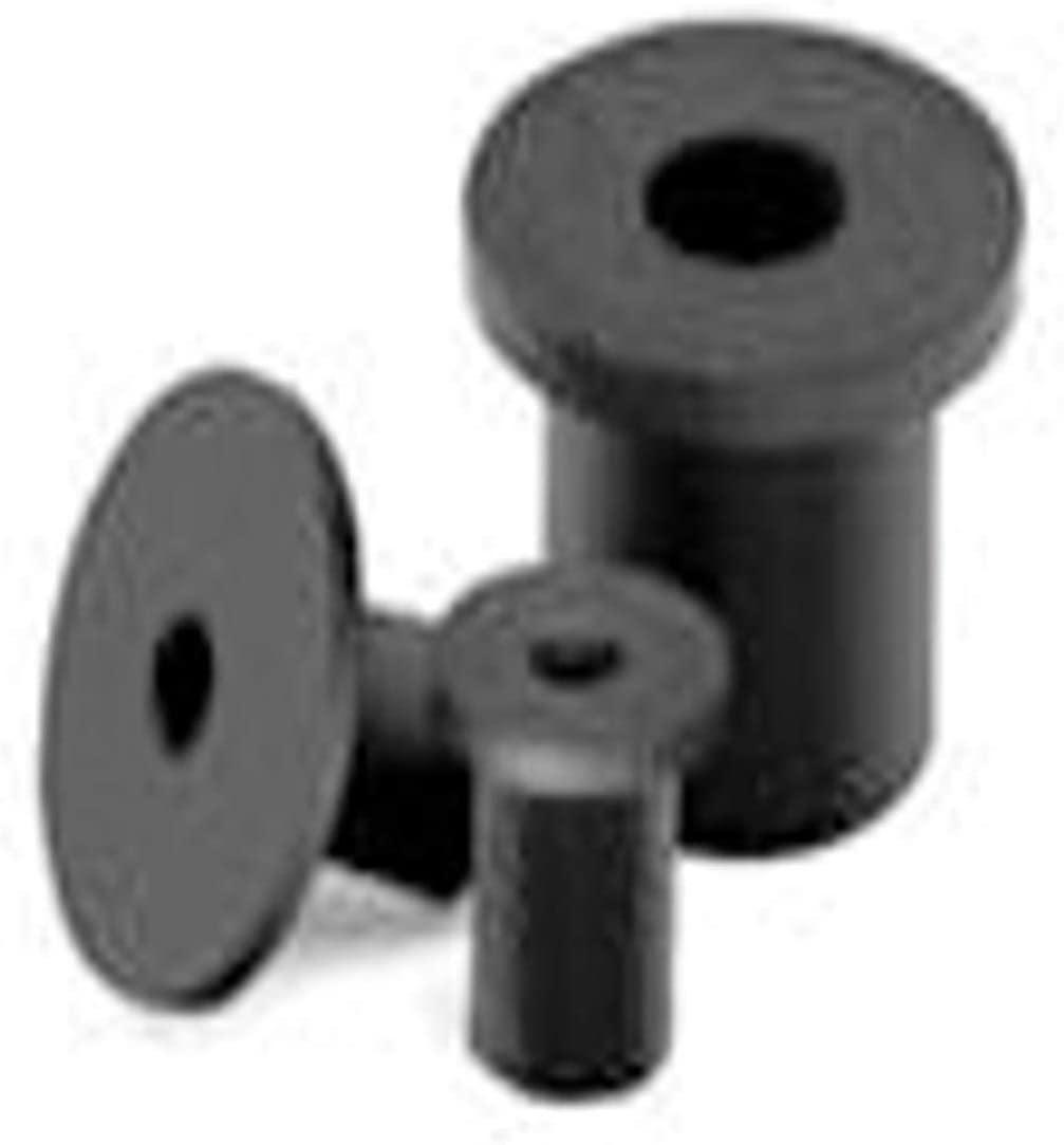 347254-B, Bayfast Wellnut M6x1.0, [.38-2.39mm GR] 16.00mm Length, Flat HD, 1.30mm HD Height, RND Body, Brass/EPDM (100