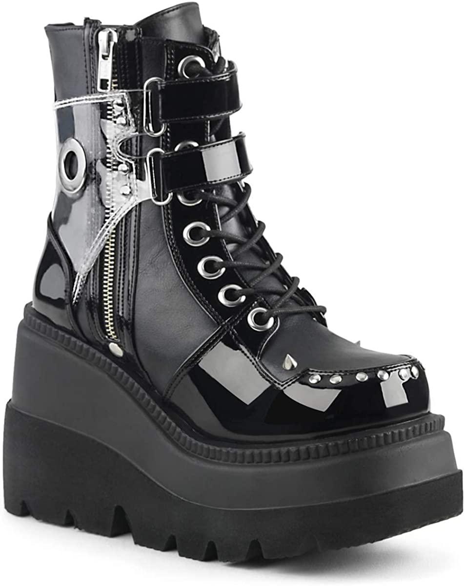 Demonia Women's Shaker-57 Ankle-High Boot