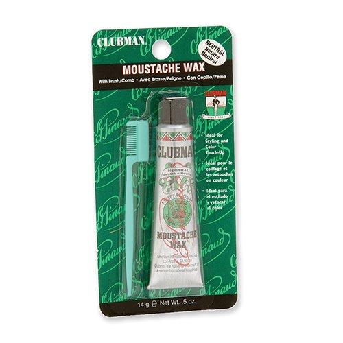 Clubman Moustache Wax Chestnut 0.50 oz (Pack of 6)