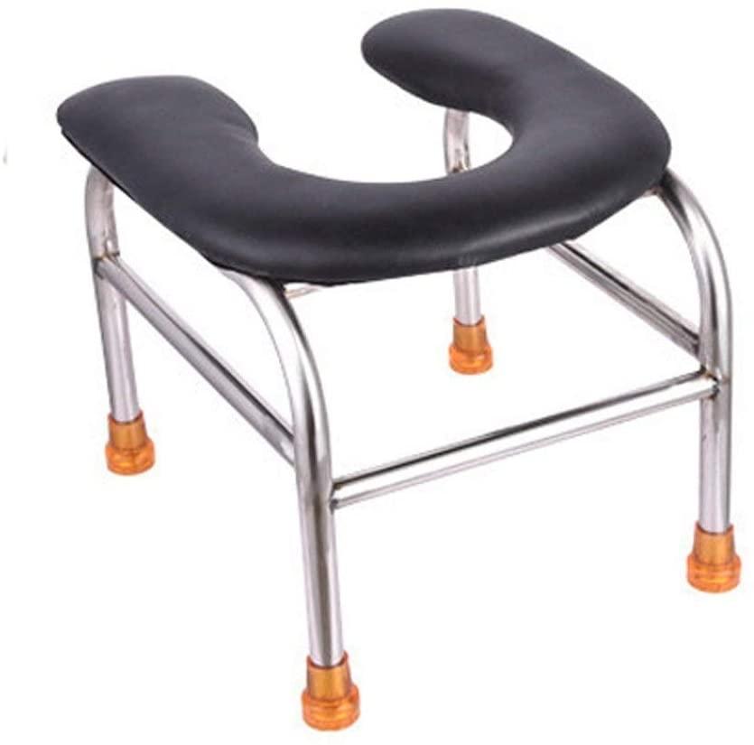 NDW Toilet Seat Chair Bath Sturdy Waterproof, Pregnant Women Old Man Potty Chair Stainless Steel Bathroom Stools 0702