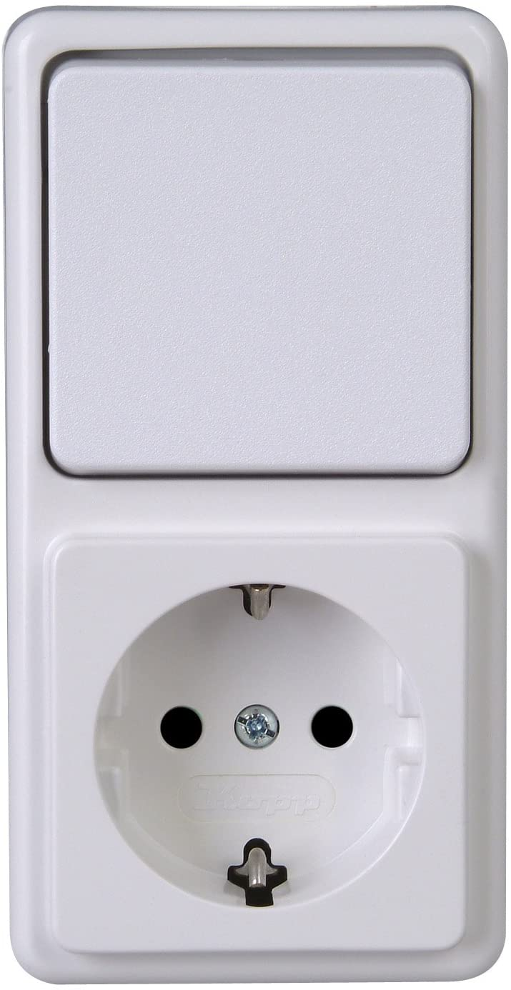 Kopp 108802007 Changeover Switch Socket Combination Surface Mounted Standard