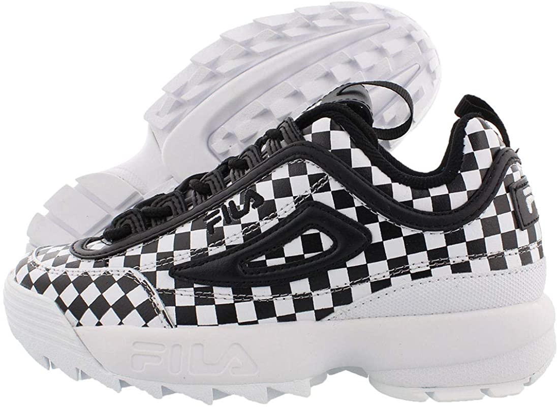 Fila Disruptor Ii Checker Womens Shoes Size 8, Color: Black/White