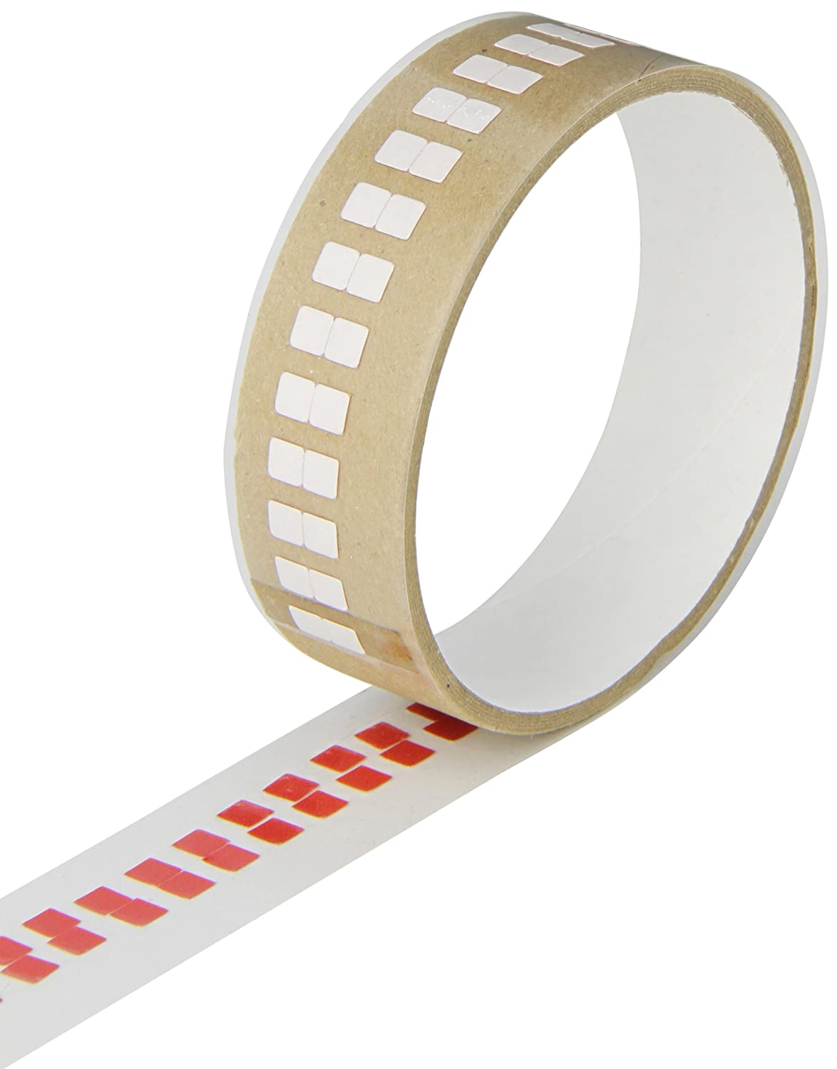 TapeCase 3M 5558 0.25 x 36yd White Polyester/Paper/Acrylic Adhesive Ultra Thin Water Contact Indicator Tape, 0.006 Thickness, 36 yd Length, 0.25 Width