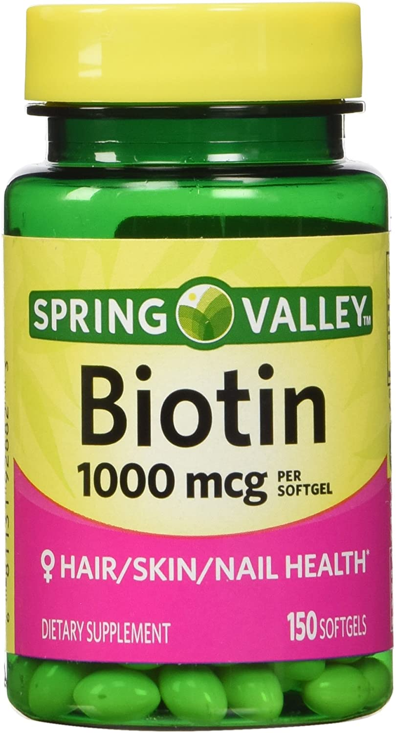 Spring Valley - Biotin 1000 mcg, 150 Tablets