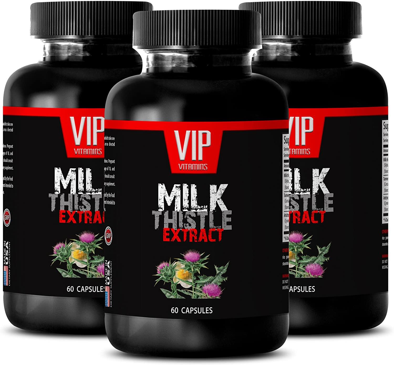 Weight Loss Body Shaper - Milk Thistle 175MG - Milk Thistle in Bulk - 3 Bottles (180 Capsules)
