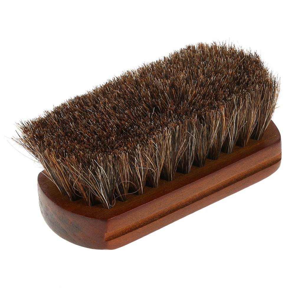 Men Beard Brush, Horse Hair Mustache Shaving Brush Facial Hair Brush