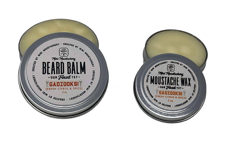 Gadzooks Mustache Wax and Gadzooks Beard Balm Gift Duo