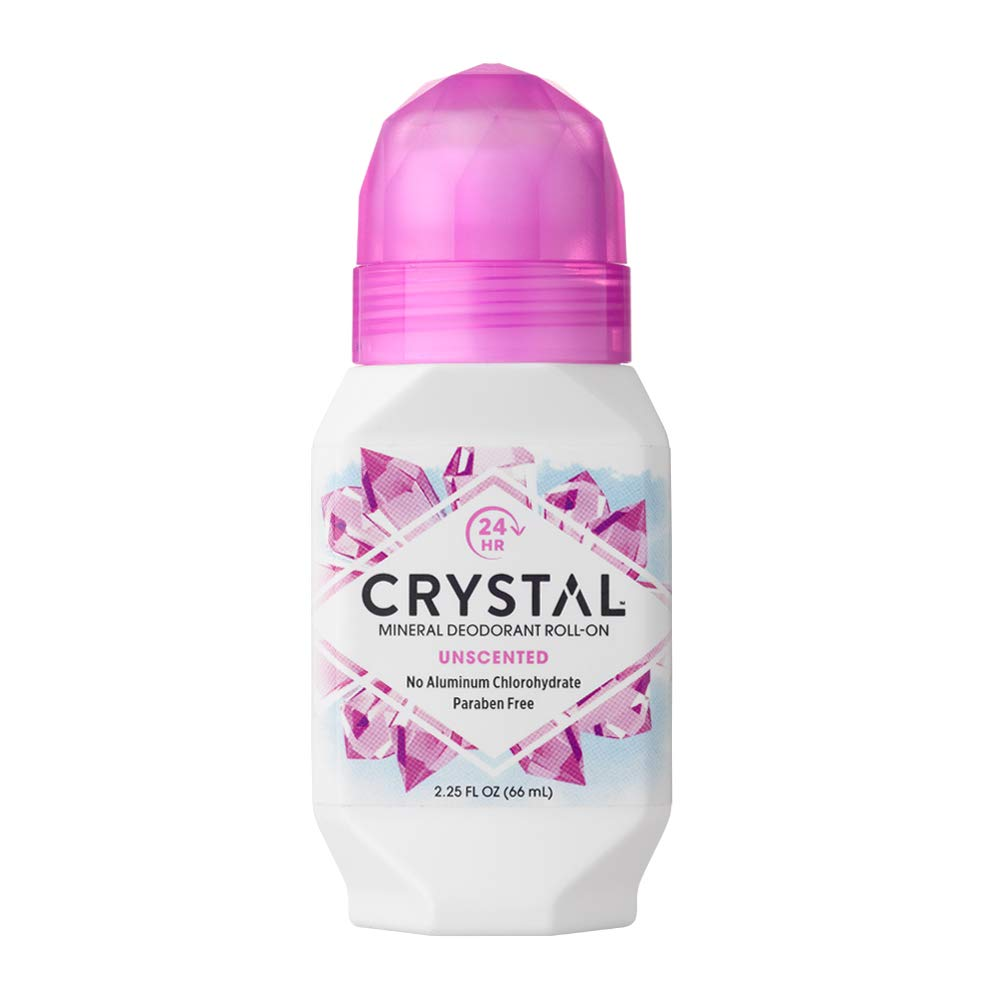 Crystal Mineral Deodorant Roll-On, Unscented, 2.25 fl oz (Pack of 3)