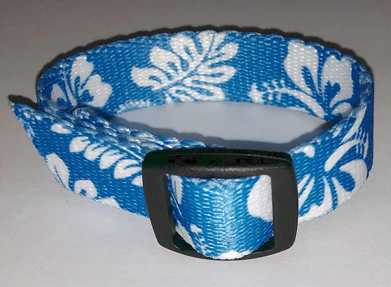 Epilepsy Life VNS (Vagus Nerve Stimulator) Wrist Watch Band Hawaiian Luau Prints
