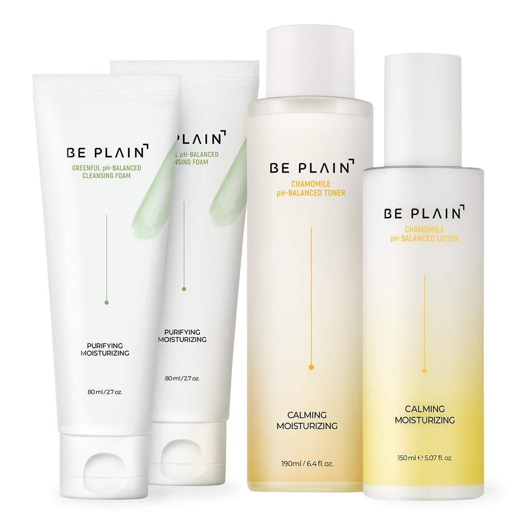 Be Plain's Best pH-Balanced Trio, Cleansing Foam & Toner & Lotion