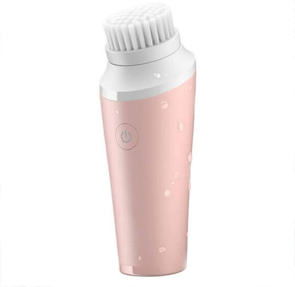 HAOMEI Facial Cleansing Brush Facial Cleaner, Facial Cleansing Brush, Electric Pore Cleaner, Pink Mini Cleansing Cleansing Instrument Deep Cleansing Pore Quick Cleansing, Gentle Quick Cleansing Ultra